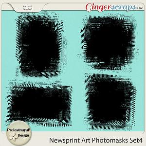Newsprint Art Photomasks Set4