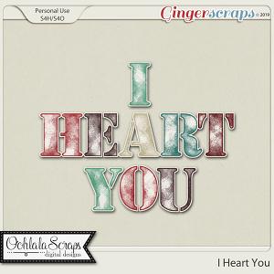 I Heart You Alphabets