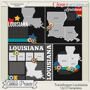 Travelogue Louisiana - 12x12 Temps (CU Ok)