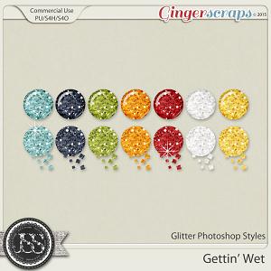 Gettin Wet Glitter Photoshop Styles