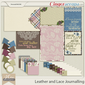 Leather and Lace Journalling