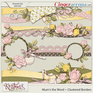 Mum's the Word Clustered Borders