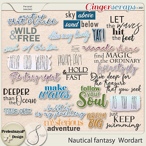 Nautical fantasy Wordart
