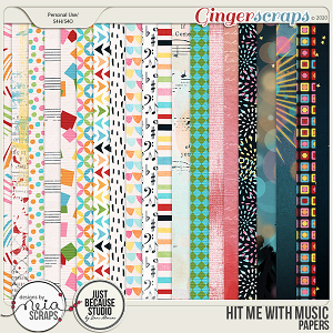 Hit Me with Music - Papers - by Neia Scraps & JB Studio