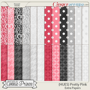 {HUES} Pretty Pink - Extra Papers