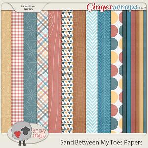 Sand Between My Toes Papers by Luv Ewe Designs