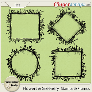 Flowers and Greenery Stamps & Frames