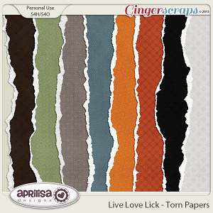 Live Love Lick - Torn Papers
