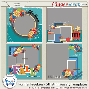 Former Freebies - 5th Anniversary Templates by Miss Fish