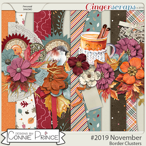#2019 November - Border Clusters by Connie Prince