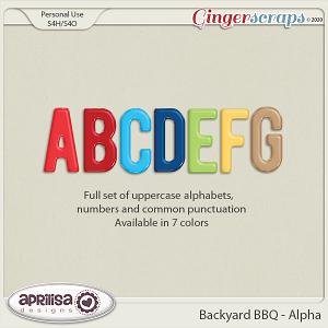 Backyard BBQ - Alpha by Aprilisa Designs