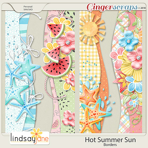 Hot Summer Sun Borders by Lindsay Jane