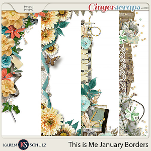 This is Me January Borders by Snickerdoodle Designs