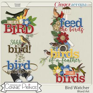 Bird Watcher - Word Art Pack by Connie Prince