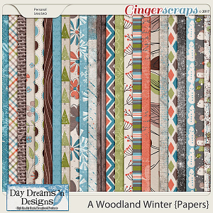 A Woodland Winter {Papers} by Day Dreams 'n Designs
