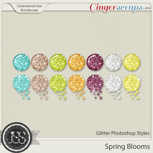 Spring Blooms Glitter CU Photoshop Styles