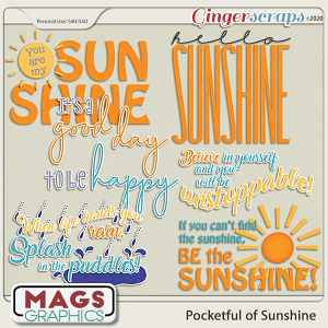 Pocketful of Sunshine WORD ART by MagsGraphics