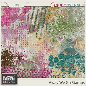 Away We Go Stamps by Aimee Harrison