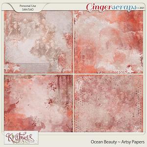 Ocean Beauty Artsy Papers