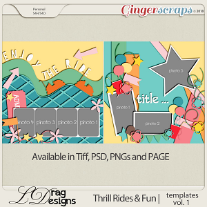 Thrill Rides & Fun: Templates Vol.1 by LDrag Designs