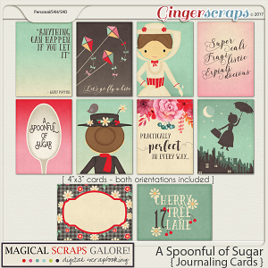 A Spoonful of Sugar (journaling cards)