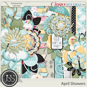April Showers Page Borders