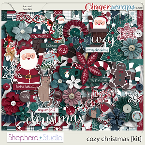 Cozy Christmas Digital Scrapbooking Kit by Shepherd Studio