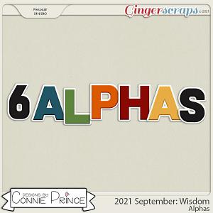 2021 September: Wisdom Bonus Alphas by North Meets South Studios