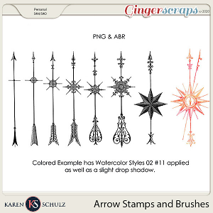 Arrow Stamps and Brushes by Karen Schulz