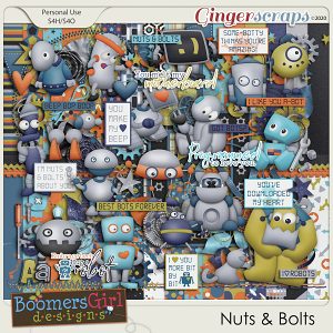 Nuts & Bolts by BoomersGirl Designs