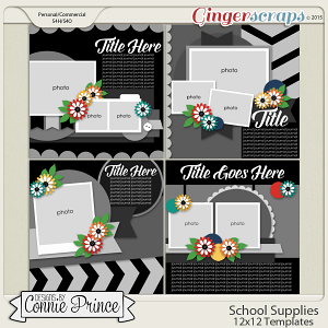School Supplies - 12x12 Temps (CU Ok)