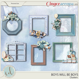 Boys Will Be Boys Clusters by Ilonka's Designs