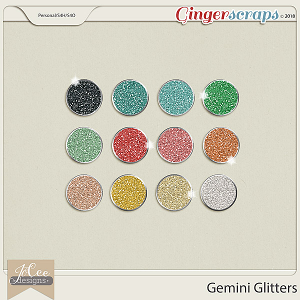 Gemini Glitters by JoCee Designs