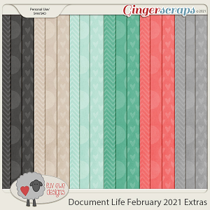 Document Life February 2021 Extra Papers by Luv Ewe Designs