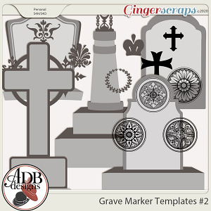 Heritage Resource - Grave Markers Set 02 by ADB Designs