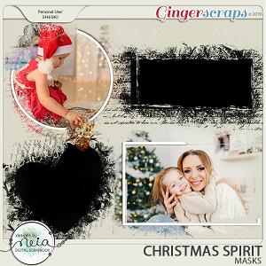 Christmas Spirit - Masks - by Neia Scraps