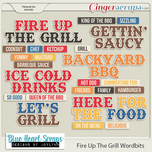 Fire Up The Grill Word Bit Pack