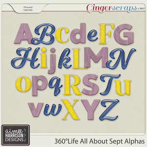 360°Life All About September Alpha Sets by Aimee Harrison