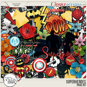 Superheroes - Page Kit by Neia Scraps