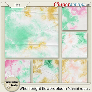 When bright flowers bloom Painted papers