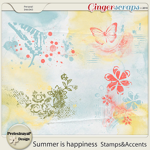 Summer is happiness Stamps&Accents