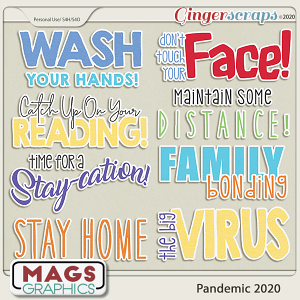 Pandemic 2020 WORD ART by MagsGraphics