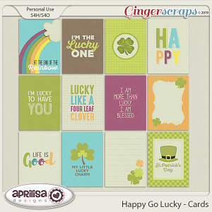 Happy Go Lucky - Cards by Aprilisa Designs
