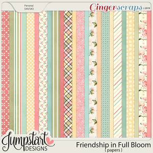 Friendship In Full Bloom {Papers} by Jumpstart Designs