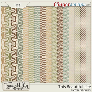 This Beautiful Life Extra Papers by Tami Miller Designs