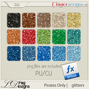 Pirates Only: Glitterstyles by LDragDesigns