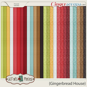 Gingerbread House cardstocks and glitters by Scraps N Pieces