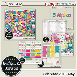Celebrate 2018: May BUNDLE by Heather Z Scraps