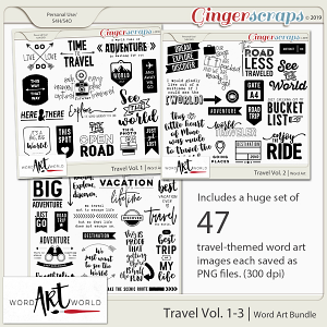 Travel Vol. 1-3 Word Art Bundle