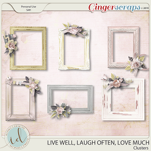 Live Well, Laugh Often, Love Much Clusters by Ilonka's Designs